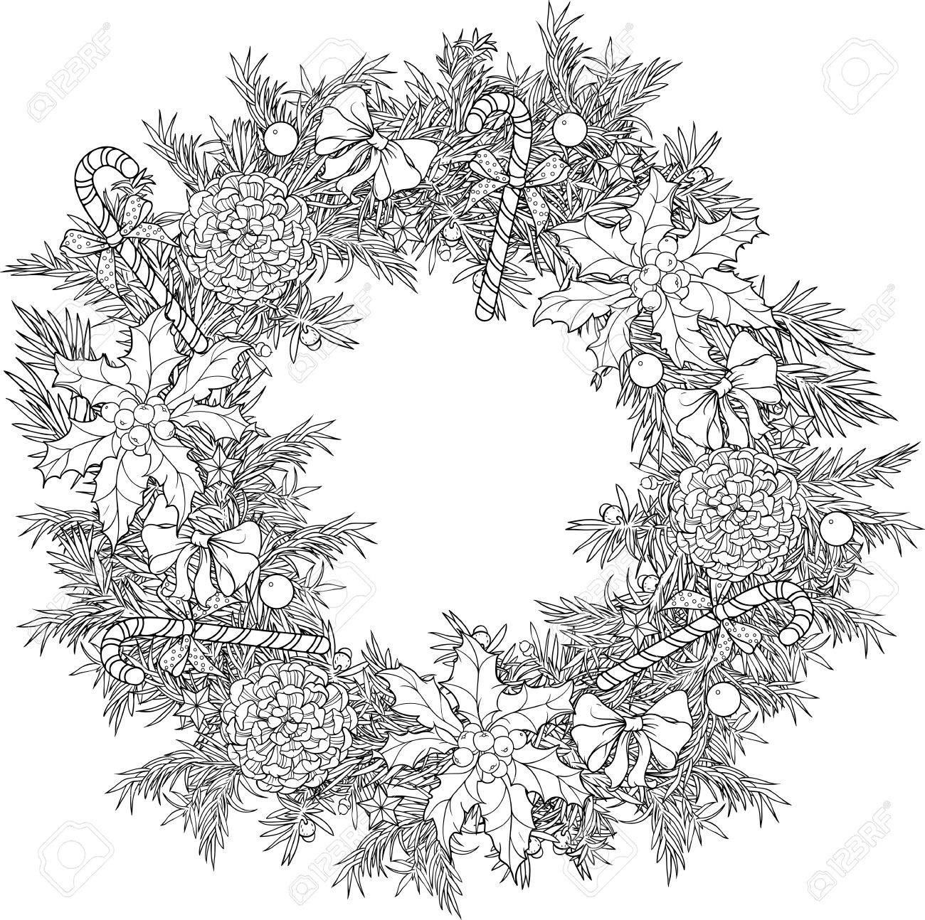 christmas coloring pages-holly leaves | Christmas coloring pages ... | 1294x1300