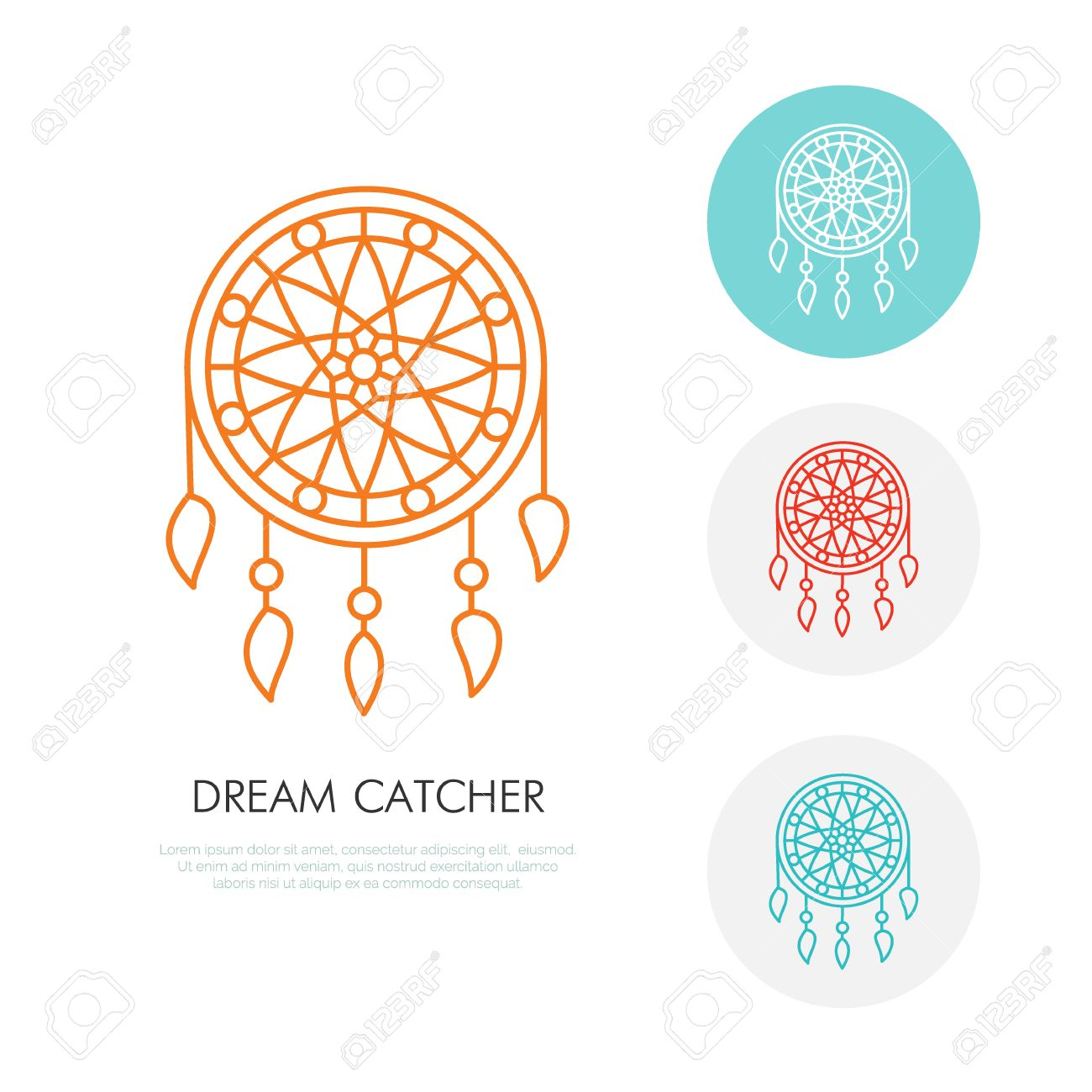 Dream catcher illustration modern line icon of dreamcatcher dream catcher illustration modern line icon of dreamcatcher indian tribal linear logo outline buycottarizona