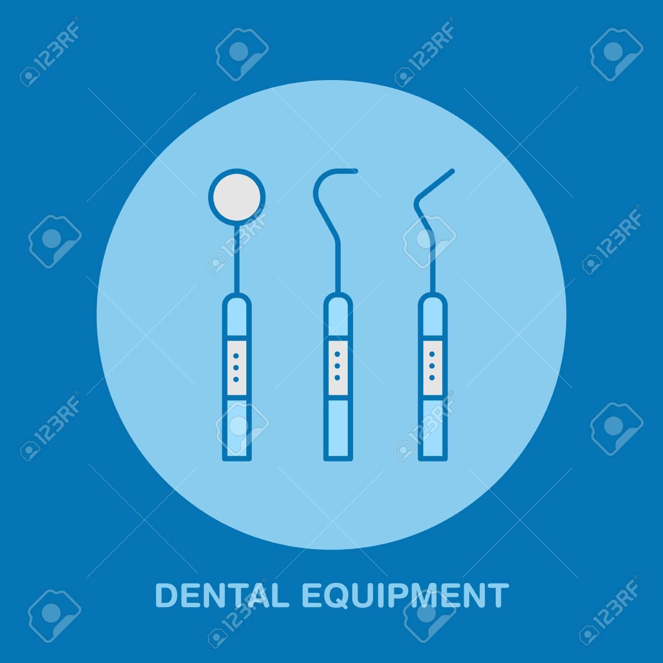 Banque d images - Outils de dentiste, icône de ligne orthodontie. Signe  d équipement de soins dentaires, éléments médicaux. Symbole linéaire mince  de soins ... 4b115afc04fd