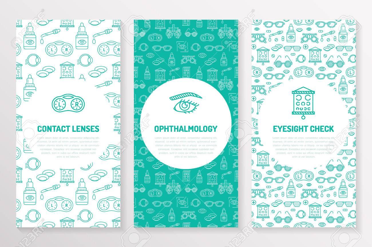 ophthalmology medical brochure template flyer eye health care
