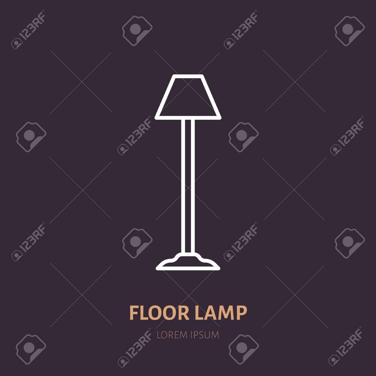 tienda de interior de pieicono línea del para lámparas Lámpara hogarseñal torchereIluminación luminariaIlustración de plana de VpSMGqzU
