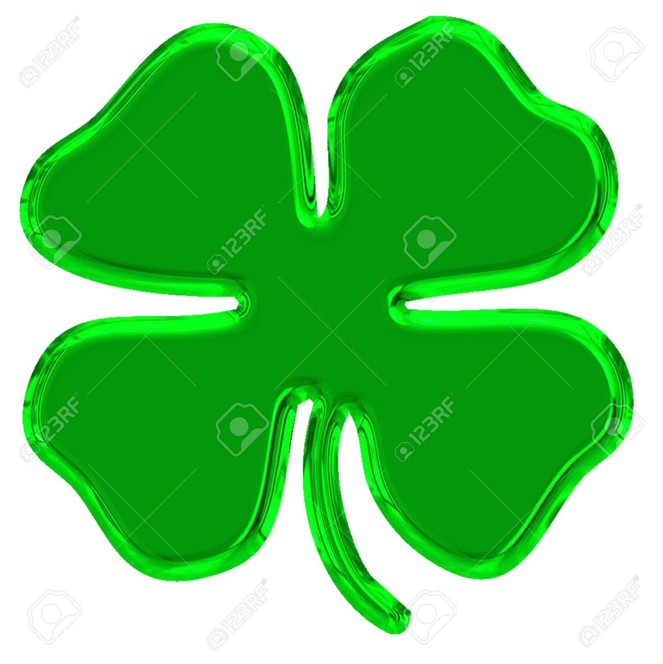 four leaves green clover is symbol of good luck Stock Photo - 8876885