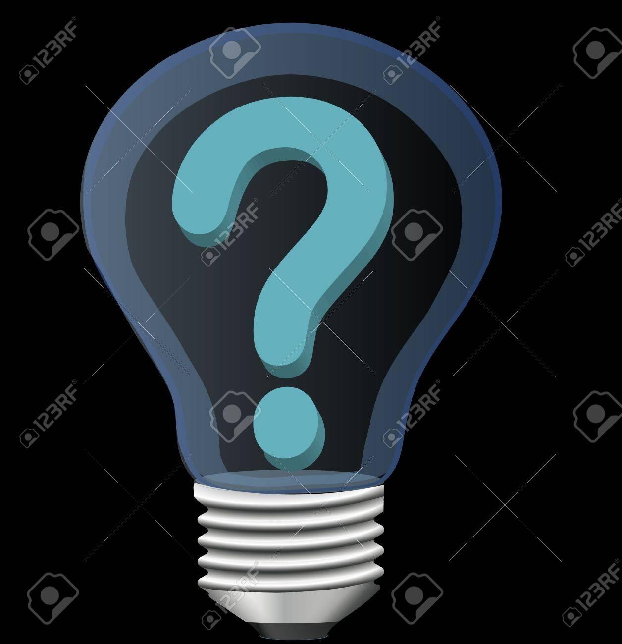 light bulb with question mark Stock Vector - 12497316