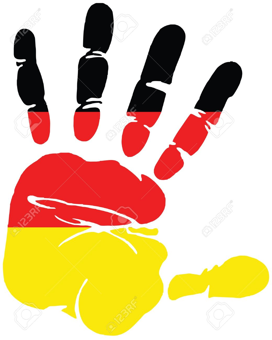 handprint for germany with colors of german flag royalty free rh 123rf com handprint vector free handprint vector clipart