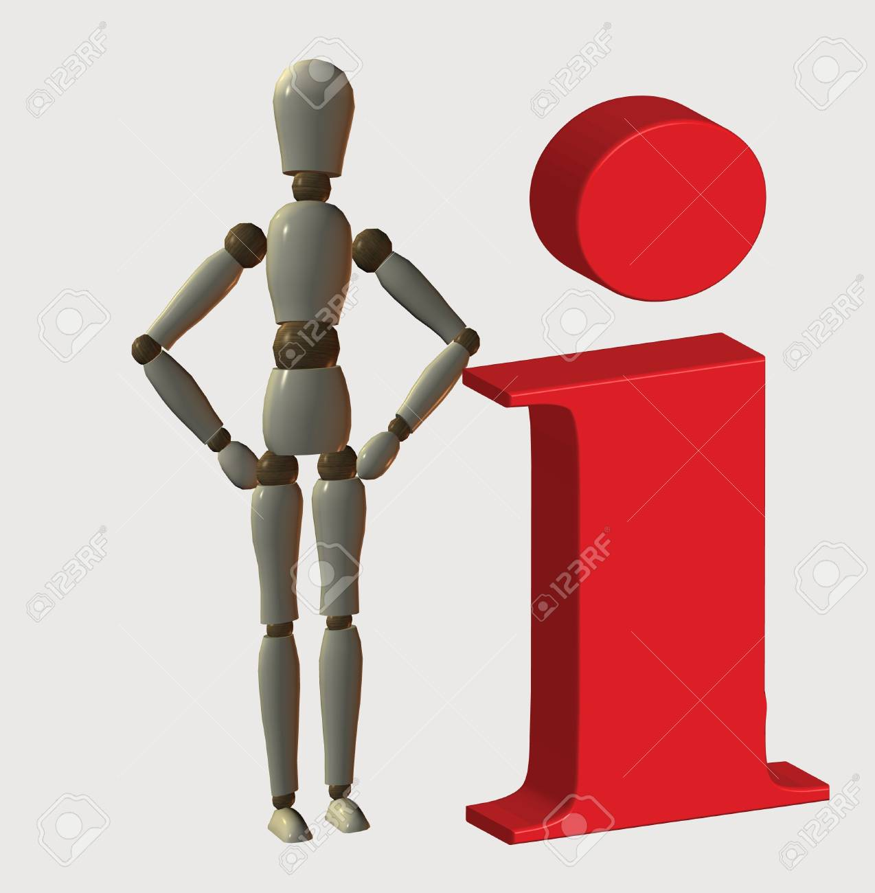 Information icon with mannequin Stock Photo - 13126375