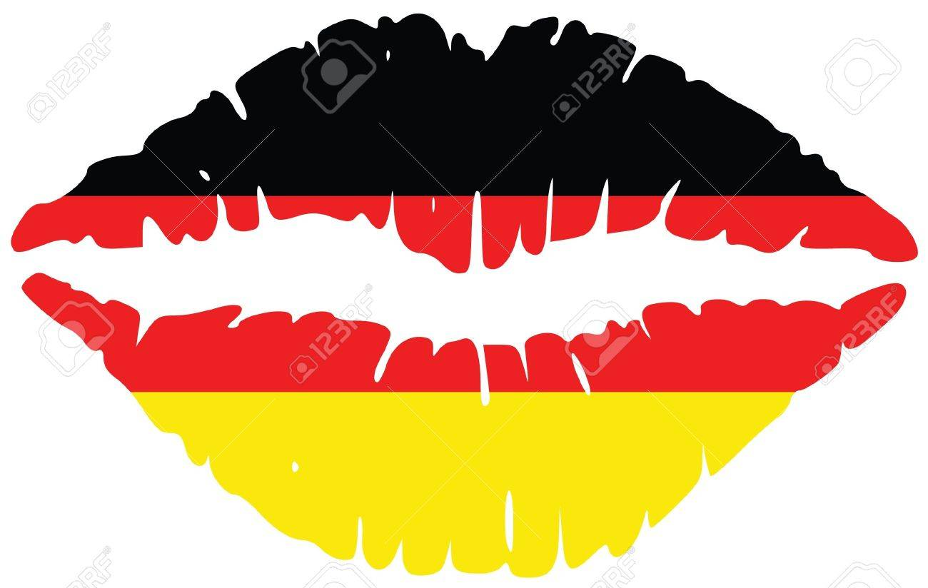 lips print in colors of germany royalty free cliparts vectors and rh 123rf com vector lips free download lipstick vector
