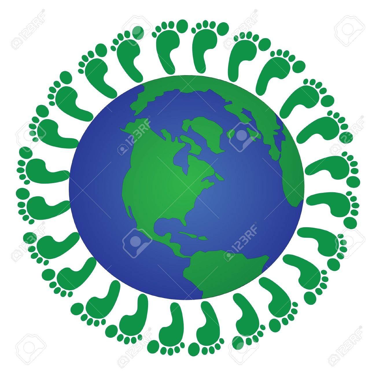 Global footprints Stock Vector - 13185116