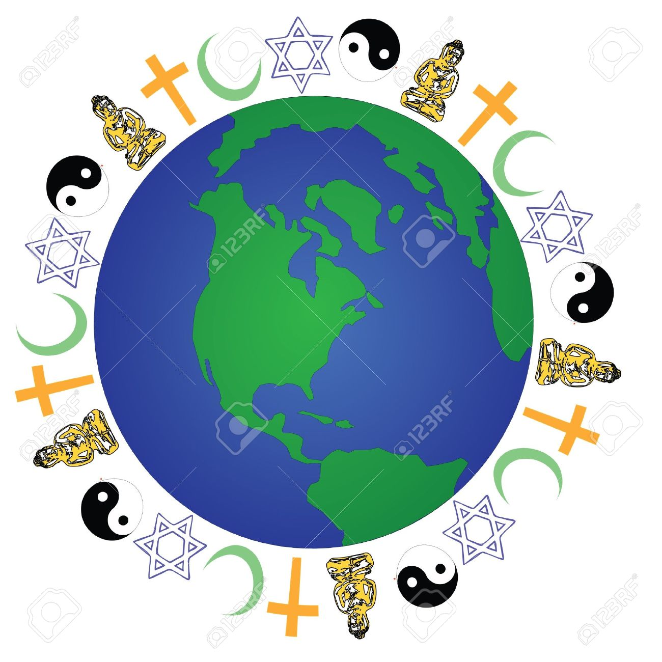 global religion royalty free cliparts vectors and stock rh 123rf com Diversity Clip Art Black and White Diversity Clip Art Black and White