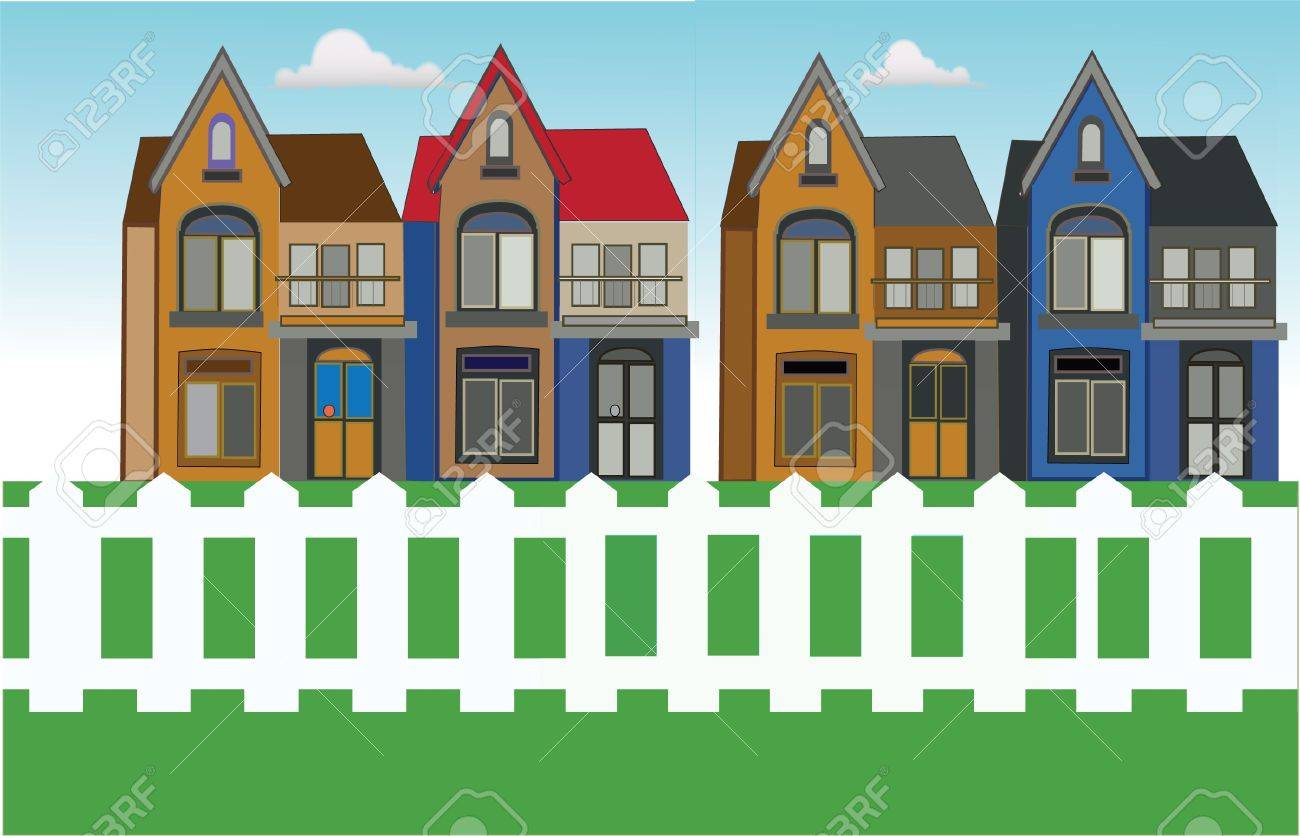 houses in urban area Stock Vector - 13417999