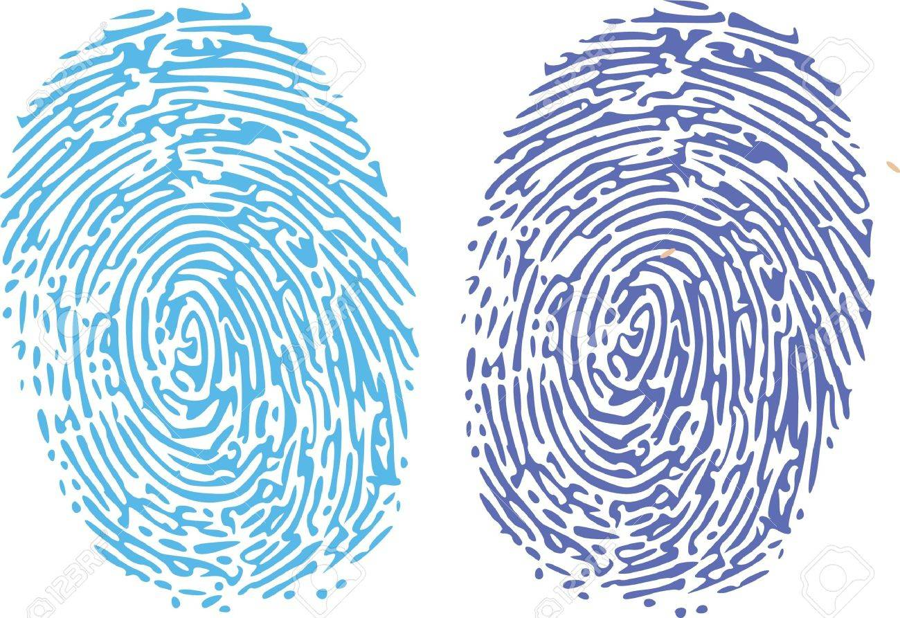thumbprint comparison royalty free cliparts vectors and stock