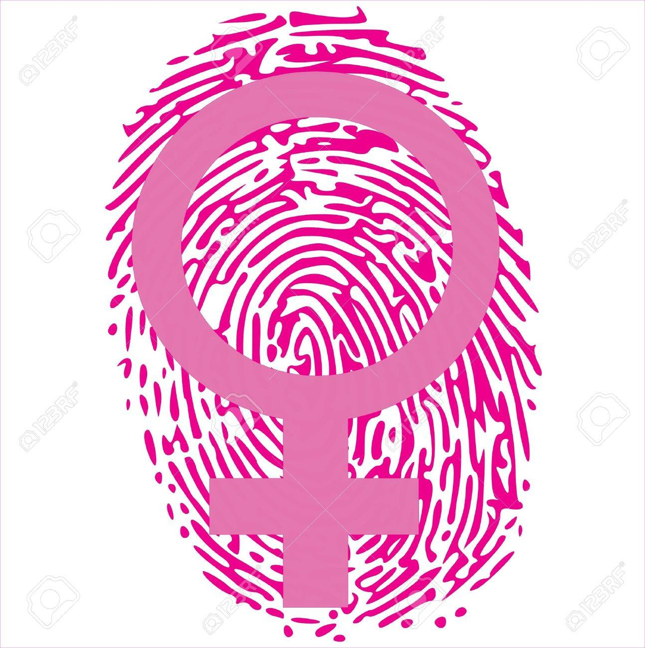 female sign on pink thumbprint Stock Vector - 13700294