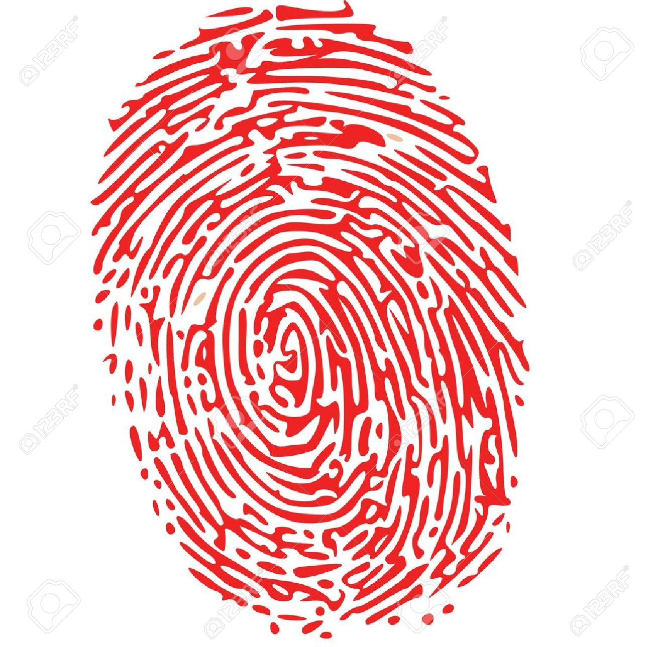 red thumbprint royalty free cliparts vectors and stock