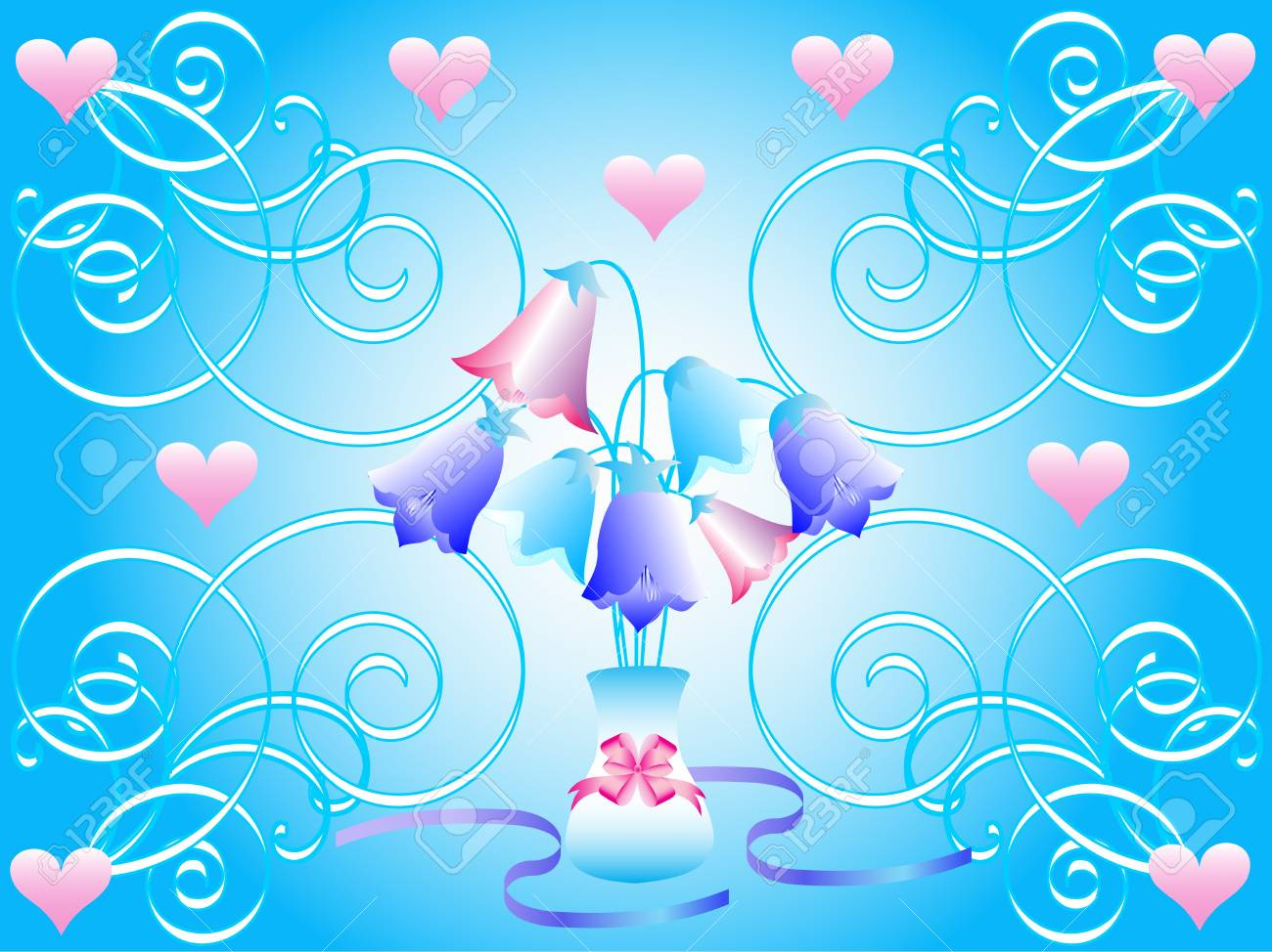 abstract floral vector illustration Valentine Stock Vector - 11658305