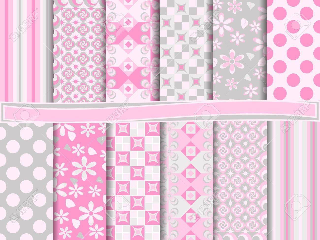 Scrapbook paper as wallpaper - Abstract Set Of Scrapbook Paper Stock Vector 14028355
