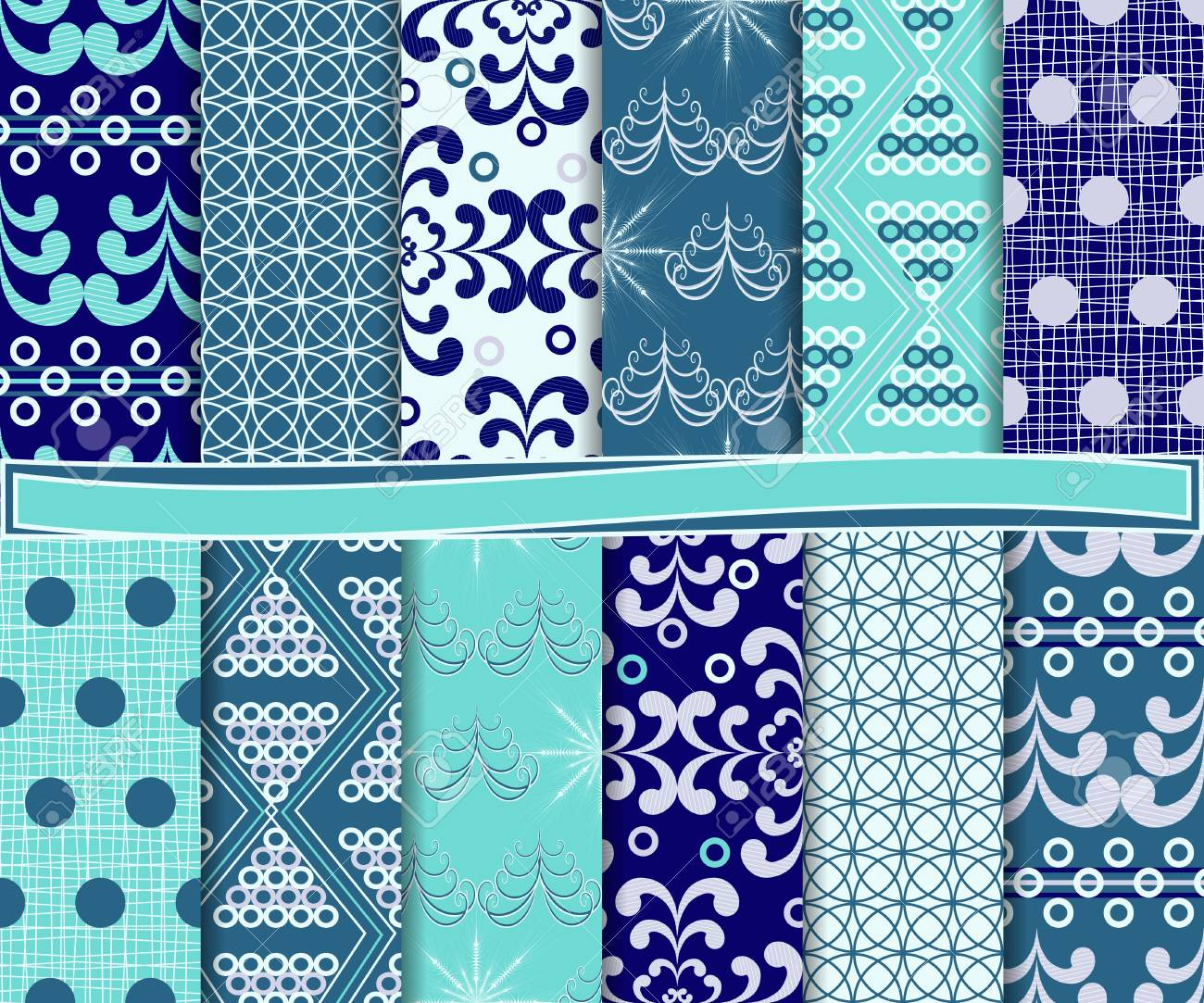 Abstract vector set of Christmas paper for scrapbook Stock Vector - 16364458