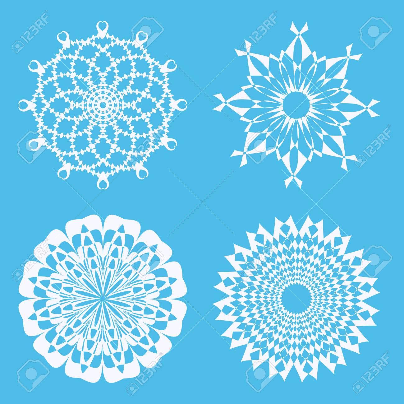 vector set of abstract circular patterns royalty free cliparts