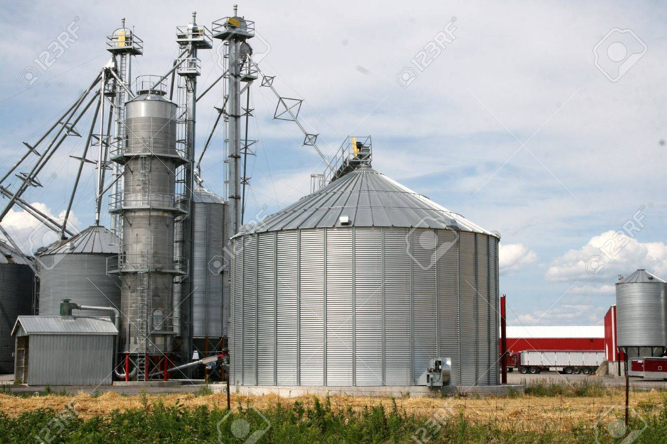 Metal grain silos for agriculture Stock Photo - 14746284