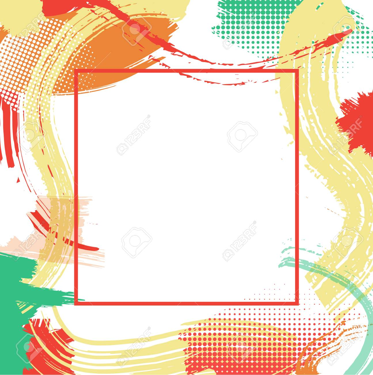 Frame With Vector Color Patterns,modern Graphic Design Elements ...