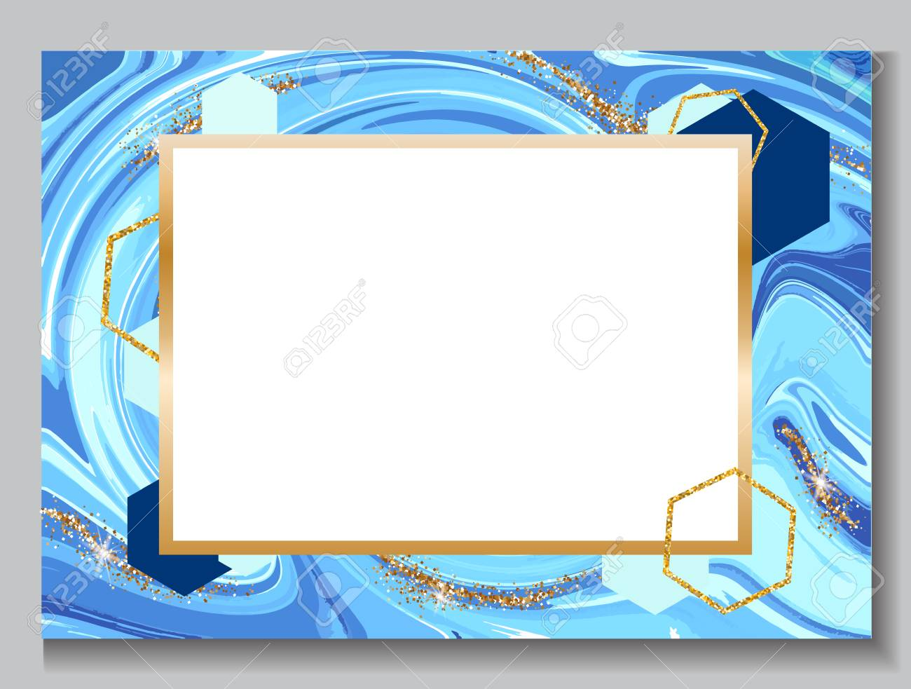 Wedding Invitation Background, Marble Brochure, Blue Color Template ...