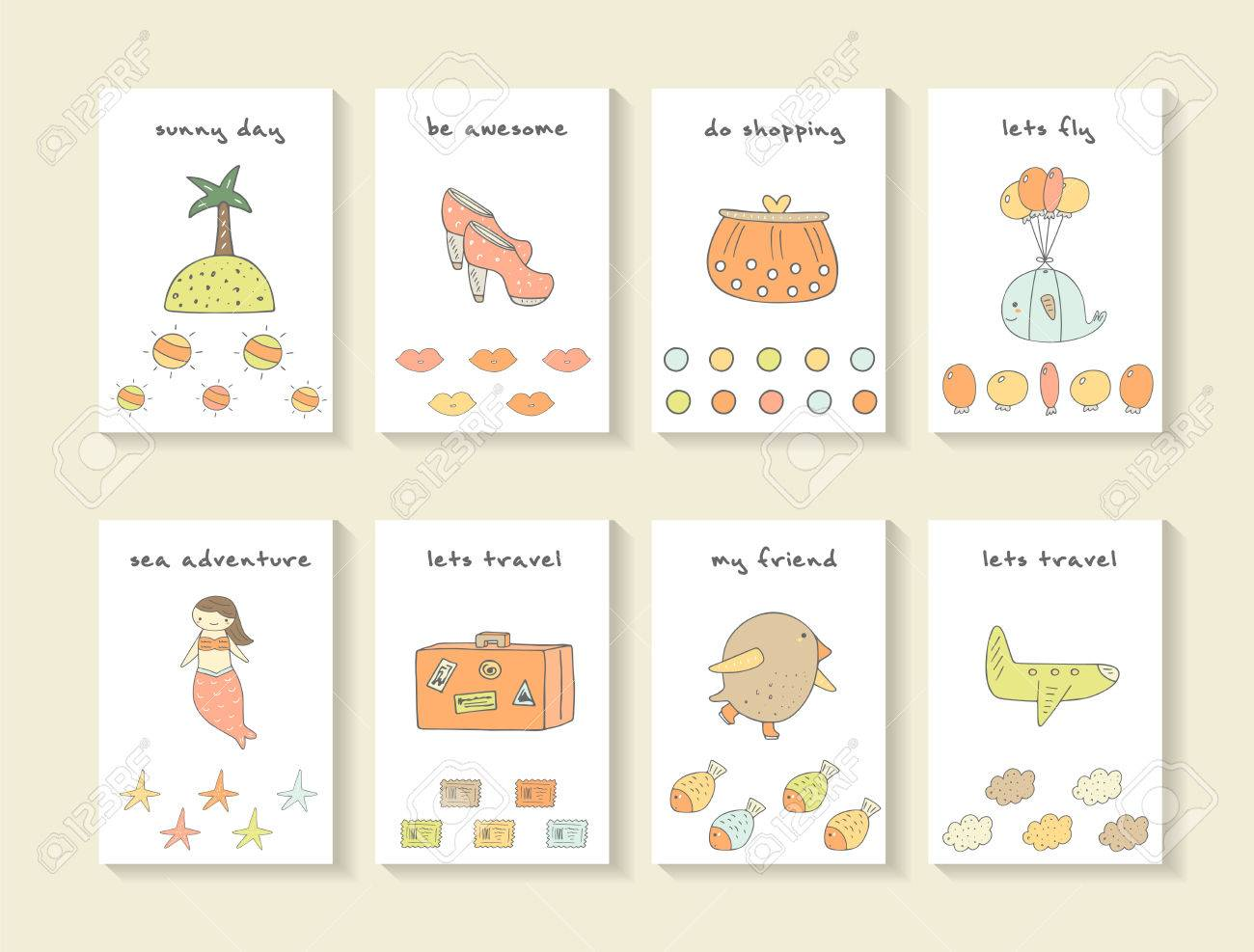 Cute Hand Drawn Doodle Baby Shower Cards, Brochures, Invitations ...