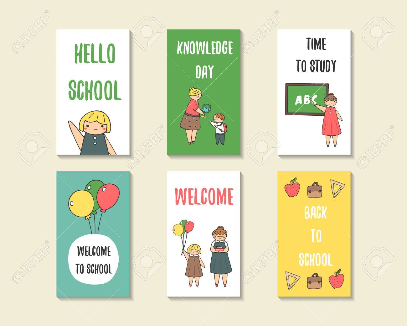 welcome back cards free printable