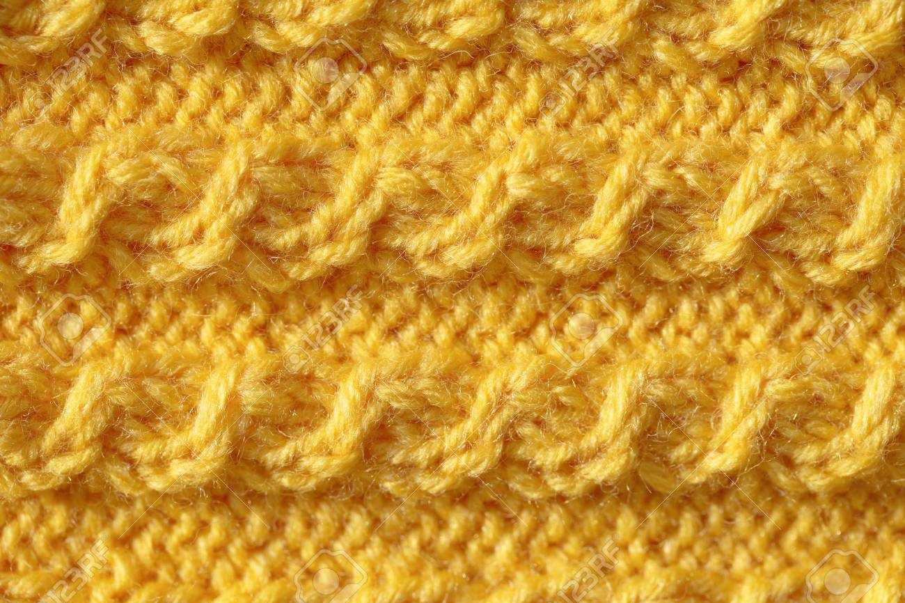 The Texture Of Knitting With A Honeycomb Pattern. Background.. Stock ...