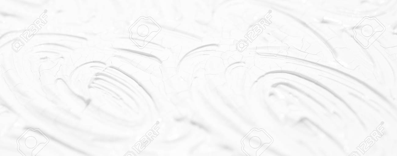 White background. Texture of paint and plaster on the wall with patterns and stripes. - 104969616
