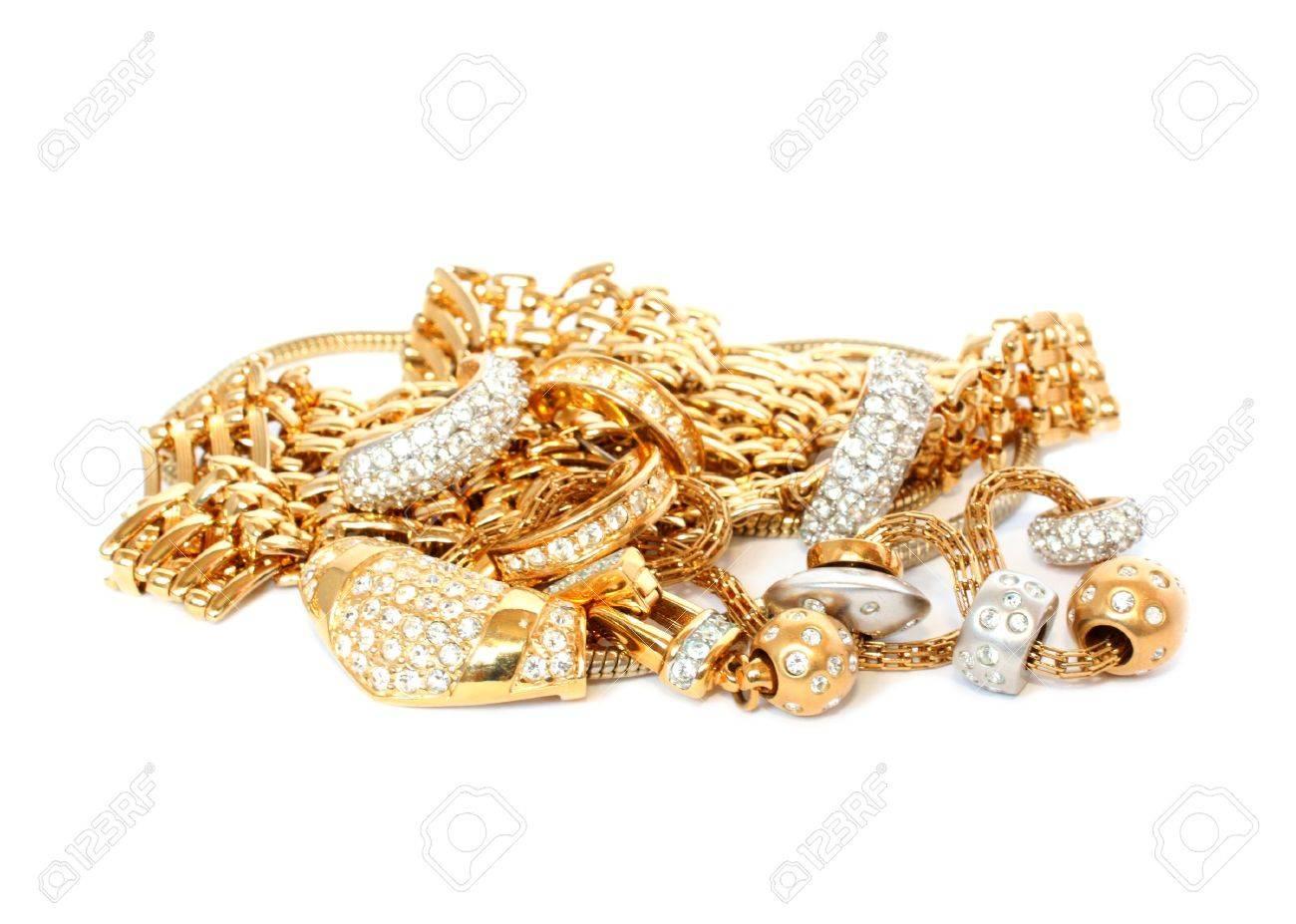 luxury golden accessories Stock Photo - 6356452