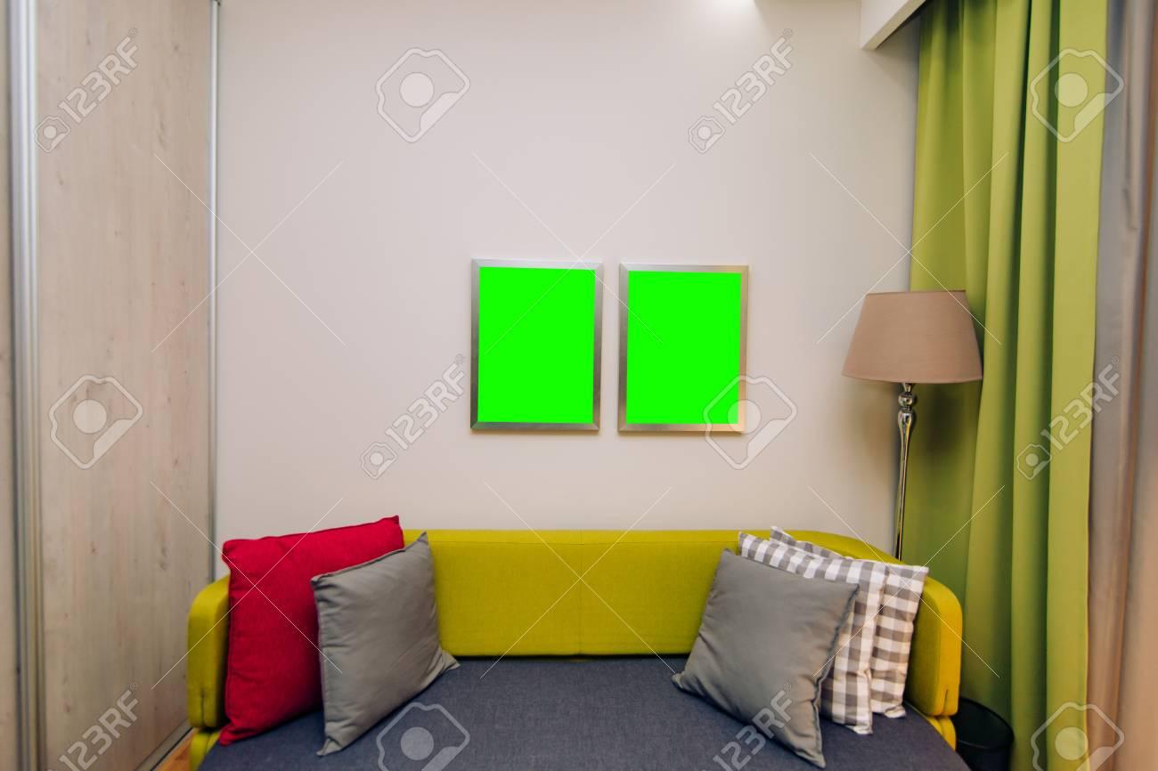 Cuarto de los niños. Habitación para niños con diseño de interiores en el  departamento.