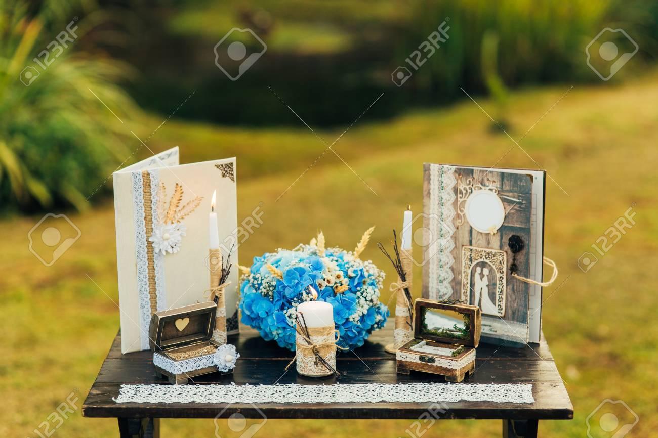 Ein Tisch Fur Eine Hochzeitszeremonie In Montenegro