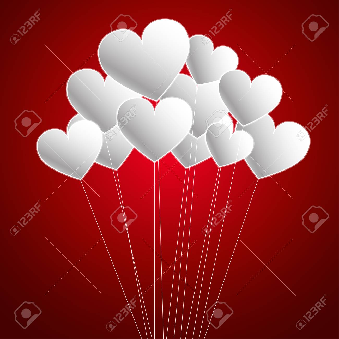 Happy Valentine S Day Balloons Royalty Free Cliparts Vectors And