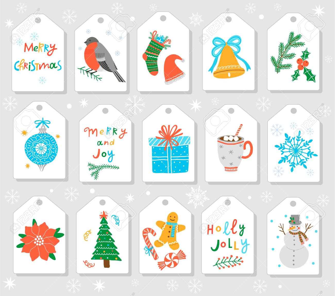 Christmas Gift Tags And Labels Vector Template Royalty Free Cliparts Vectors And Stock Illustration Image 90860438