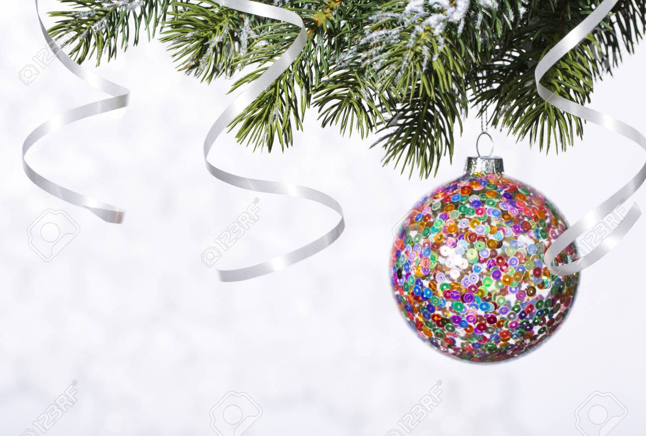 Christmas Disco Ball.Christmas New Years Or Disco Ball Party Background