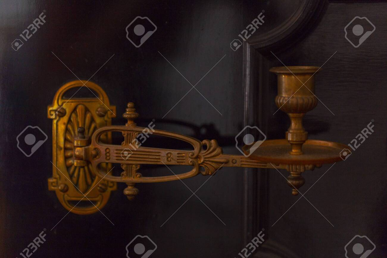 Vintage Candle Holder On The Piano Old Piano With Candlestick Stock Photo Picture And Royalty Free Image Image 139163550