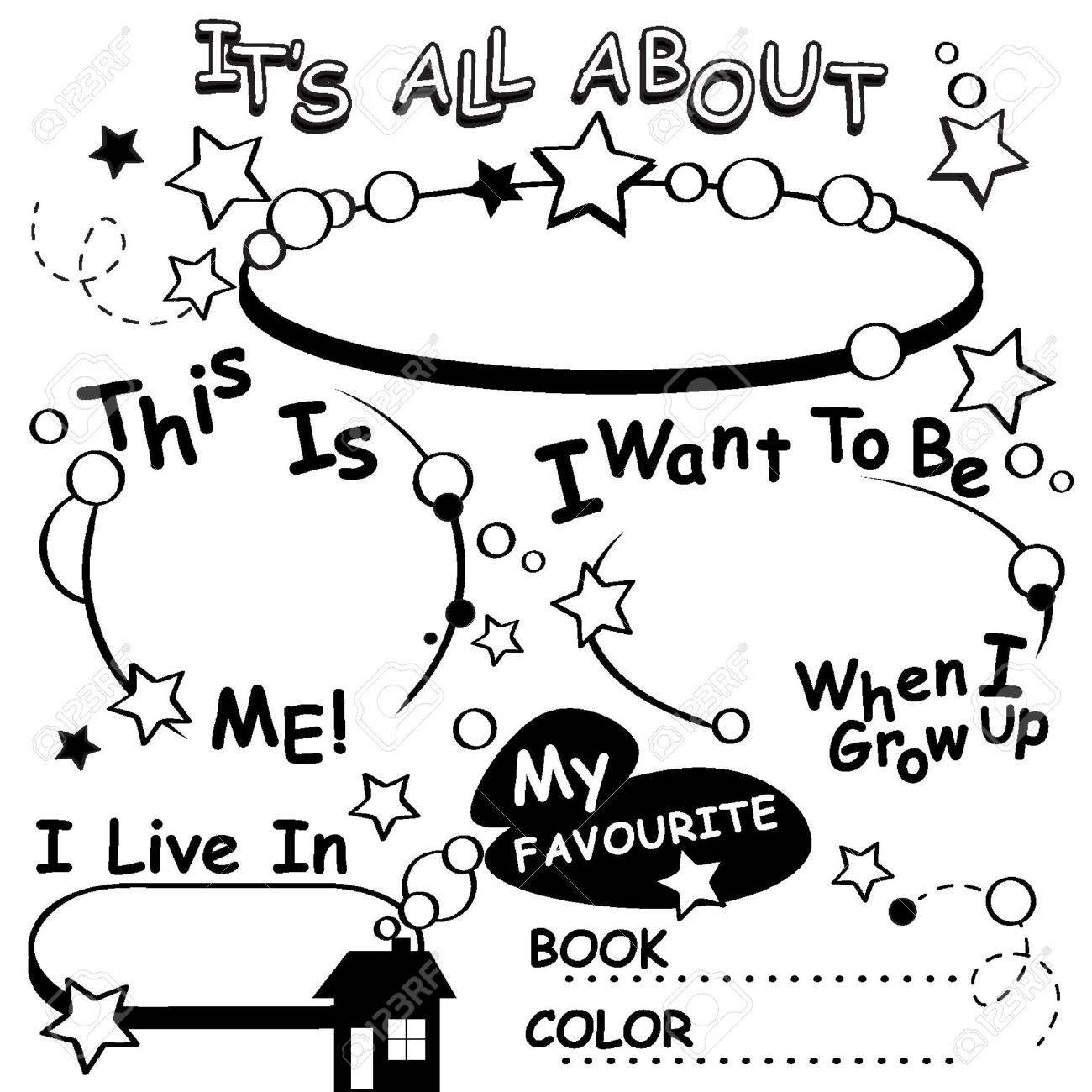 Página Para Colorear Todo Sobre Mí. Grande Para El Primer Día De ...