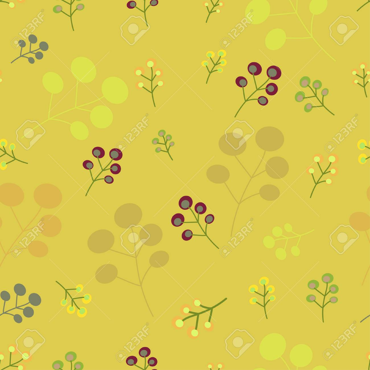Vintage seamless floral pattern Stock Vector - 9817221