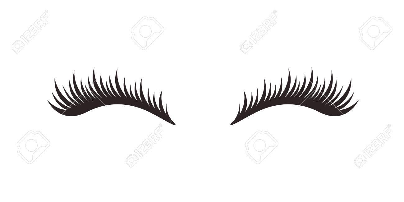 Eyelashes on white background, vector illustration. - 83931443