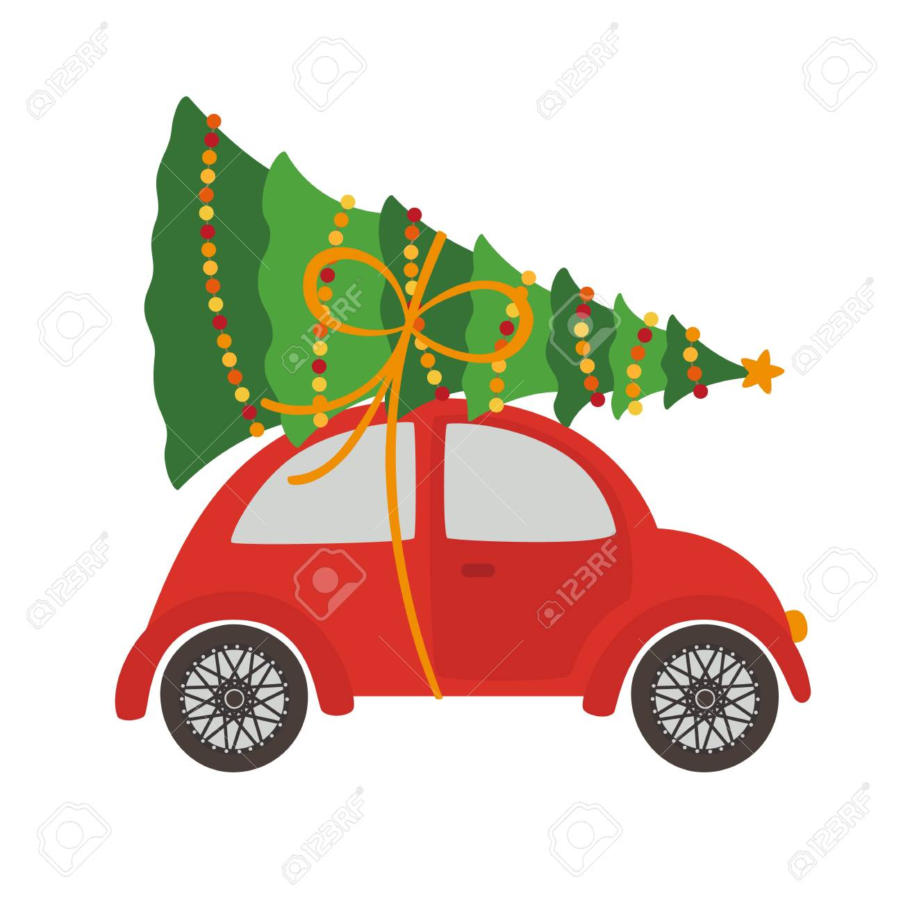 Car With Christmas Tree Royalty Free Cliparts Vectors And Stock Illustration Image 84789859
