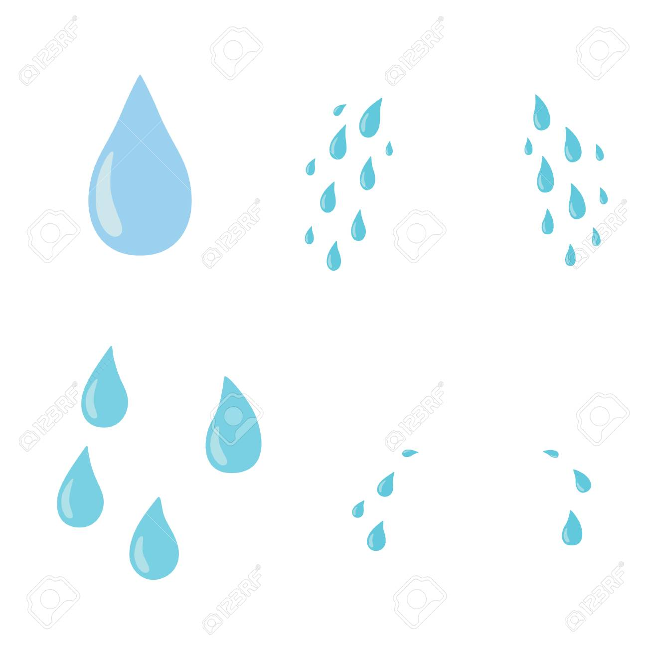 Tears set. Drop. Vector flat cartoon character icon design. Isolated on white background. Cry,tears concept - 103487704