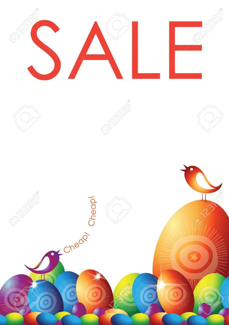 a portrait format illustrated poster with an easter themed