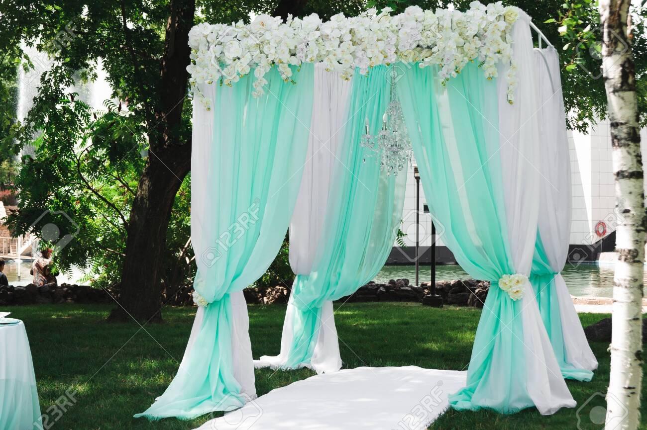wedding ceremony decoration, beautiful wedding decor, flowers - 121820205