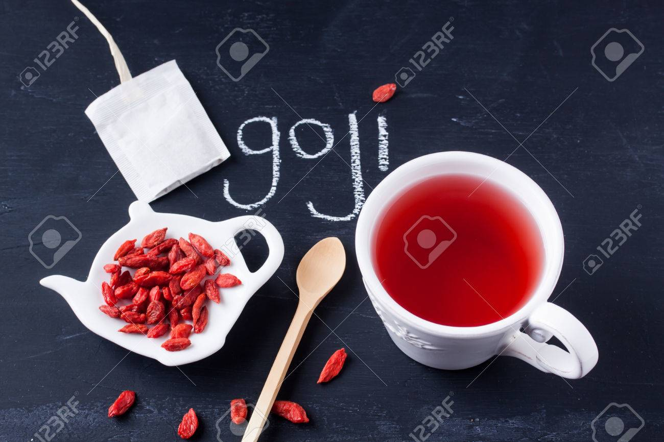 Goji Berry Tea Stock Photo Picture And Royalty Free Image Image