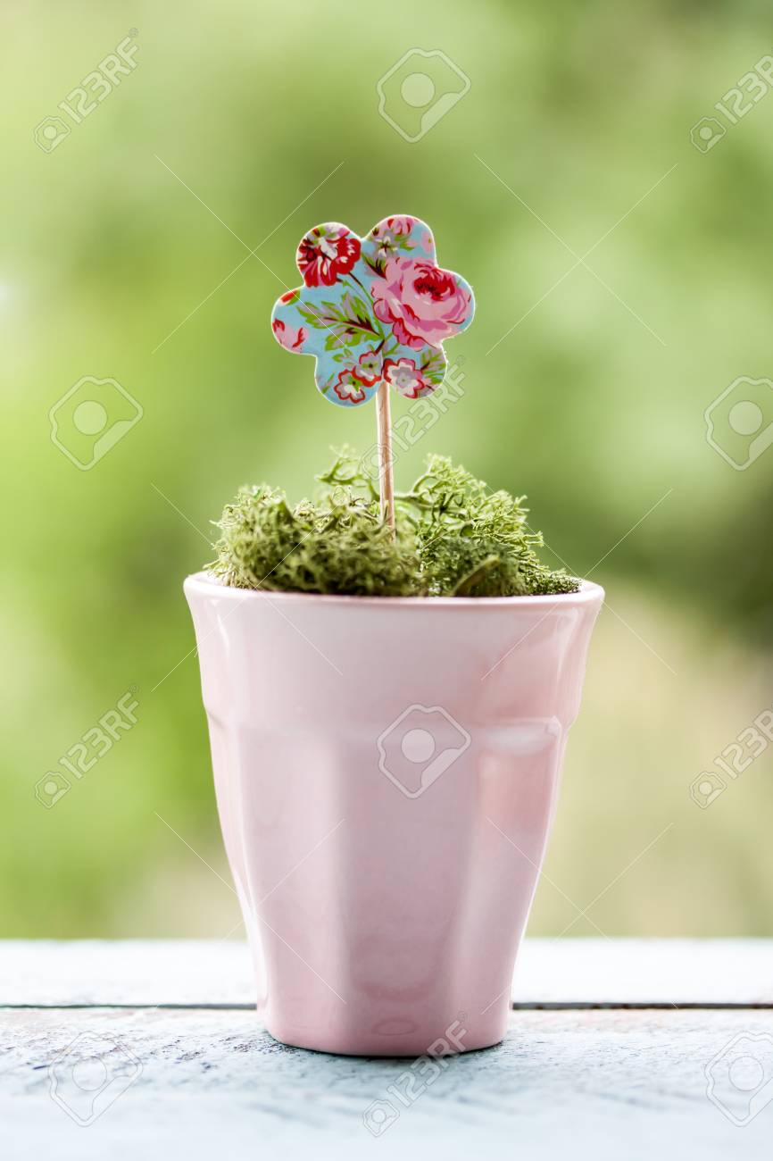 Paper Flower In A Pot Stock Photo Picture And Royalty Free Image Image 56171591