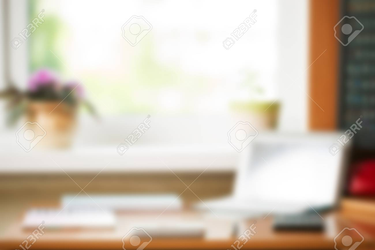 Super Abstract Office Desk Table With Computer Supplies Flower Blur Download Free Architecture Designs Embacsunscenecom