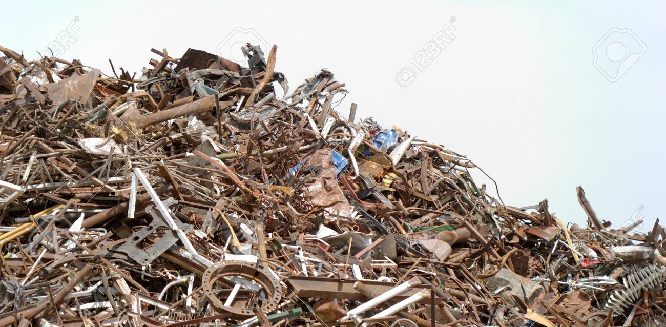 scrap metal processing industry, stacked metal Stock Photo - 19746125