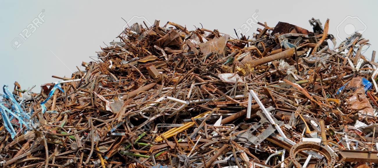 scrap metal processing industry, stacked metal Stock Photo - 20096767