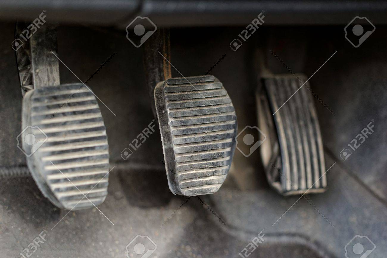 manual gear shifter car pedals Stock Photo - 20105733