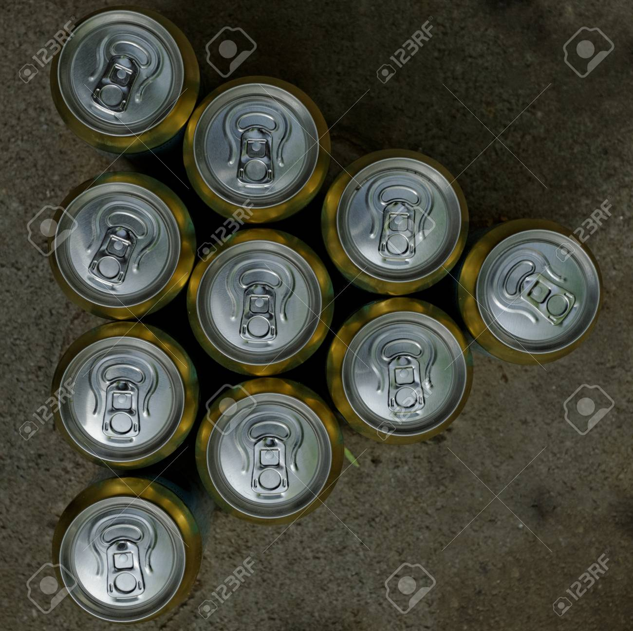 Much of drinking cans close up Stock Photo - 20208100