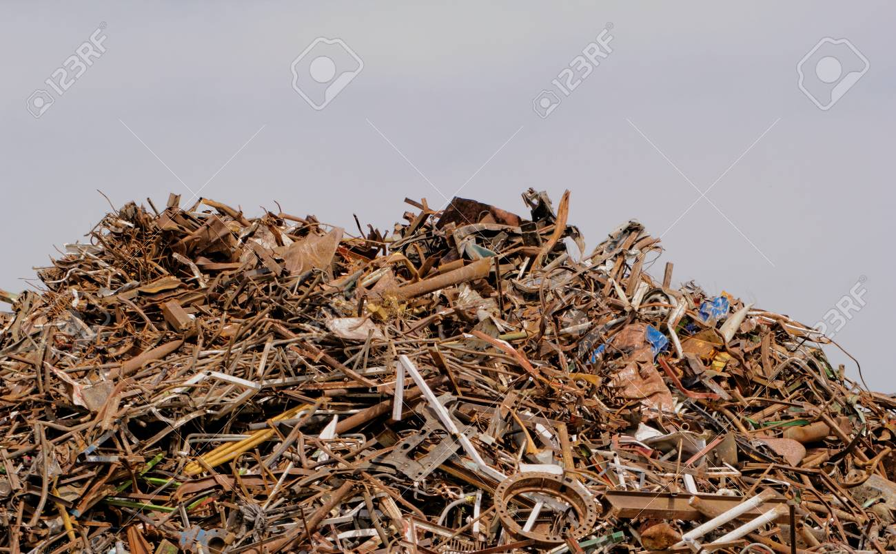 scrap metal processing industry, stacked metal Stock Photo - 20562688