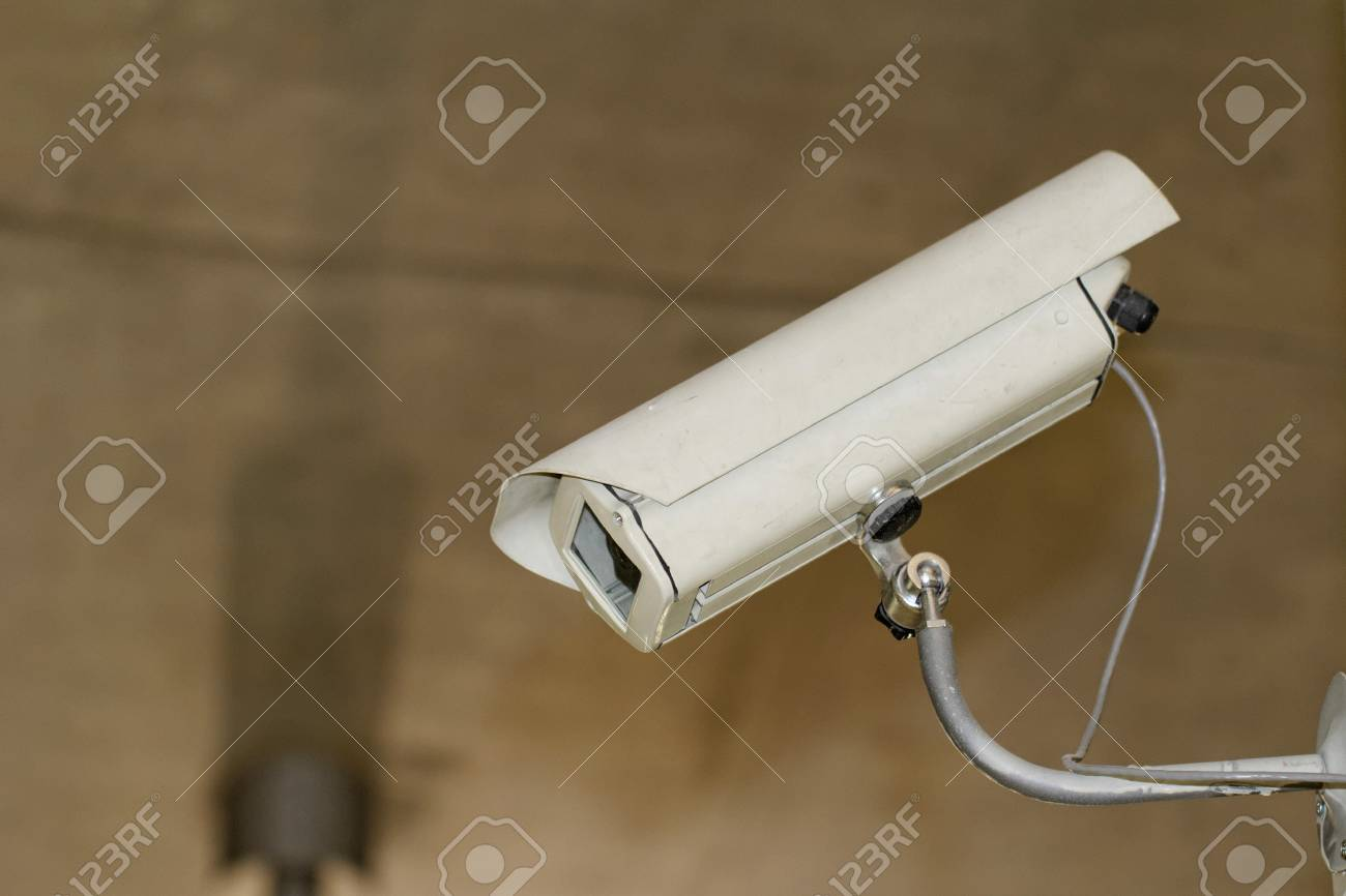 industrial white security camera in the box ( CCTV) Stock Photo - 21318073